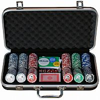 Black Aluminum Poker Set, 300 piece