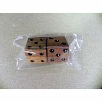 Wood Dice (pkg of 2)