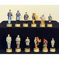 "CM- 3.25"" Civil War Generals Painted Resin"