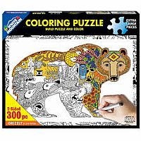 Grizzly Coloring Puzzle - 300 pc puzzle