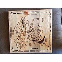 2 Person Map Cribbage Board